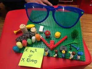 ein Design Thinking Prototyp aus Lego und Playmobil