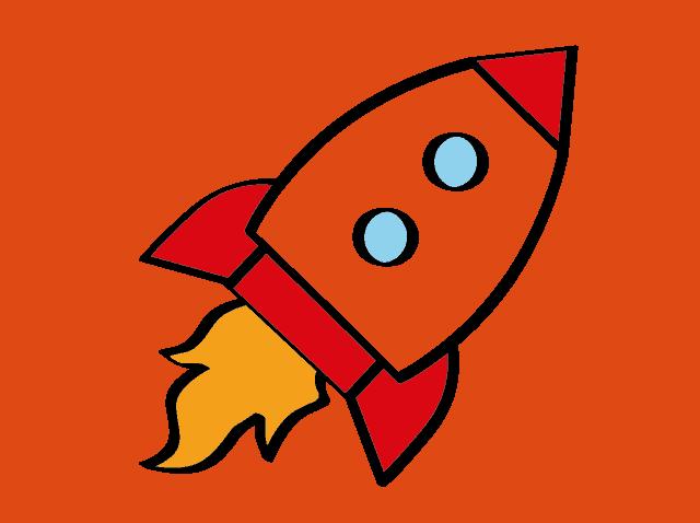 die Rakete ein Symbol fuer Design Thinking